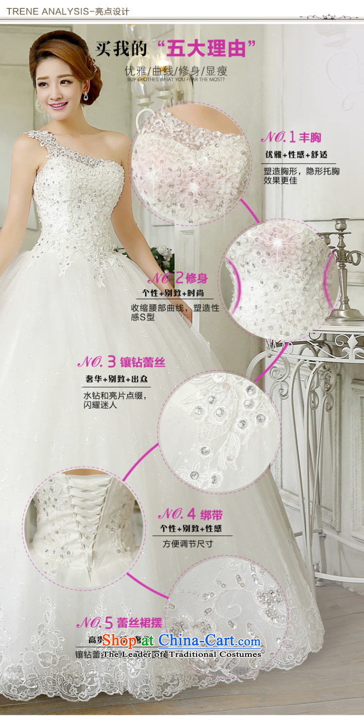 Wedding 2015 new stylish Korean version of large numbers of the shoulder on-chip video thin and marriages chest straps to wedding bon bon skirt White聽XL Photo, prices, brand platters! The elections are supplied in the national character of distribution, so action, buy now enjoy more preferential! As soon as possible.