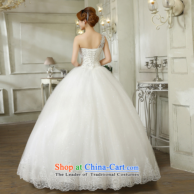 Wedding 2015 new stylish Korean version of large numbers of the shoulder on-chip video thin and marriages chest straps to wedding bon bon skirt White聽XL, hundreds of Ming products , , , shopping on the Internet