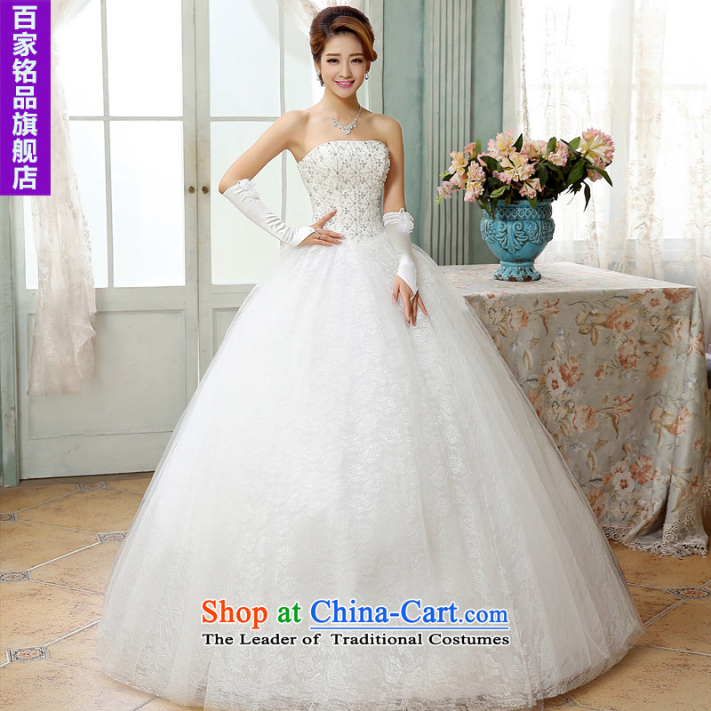 Wedding white 2015 autumn and winter new stylish sexy anointed chest video thin wedding lace luxury diamond align to bind with wedding white L