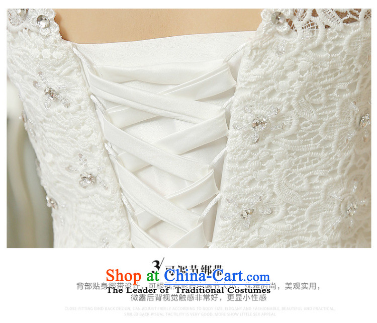 Wedding dress white 2015 new stylish Korean word diamond shoulder straps v-neck lace video thin shoulders wedding marriage with white L picture, prices, brand platters! The elections are supplied in the national character of distribution, so action, buy now enjoy more preferential! As soon as possible.