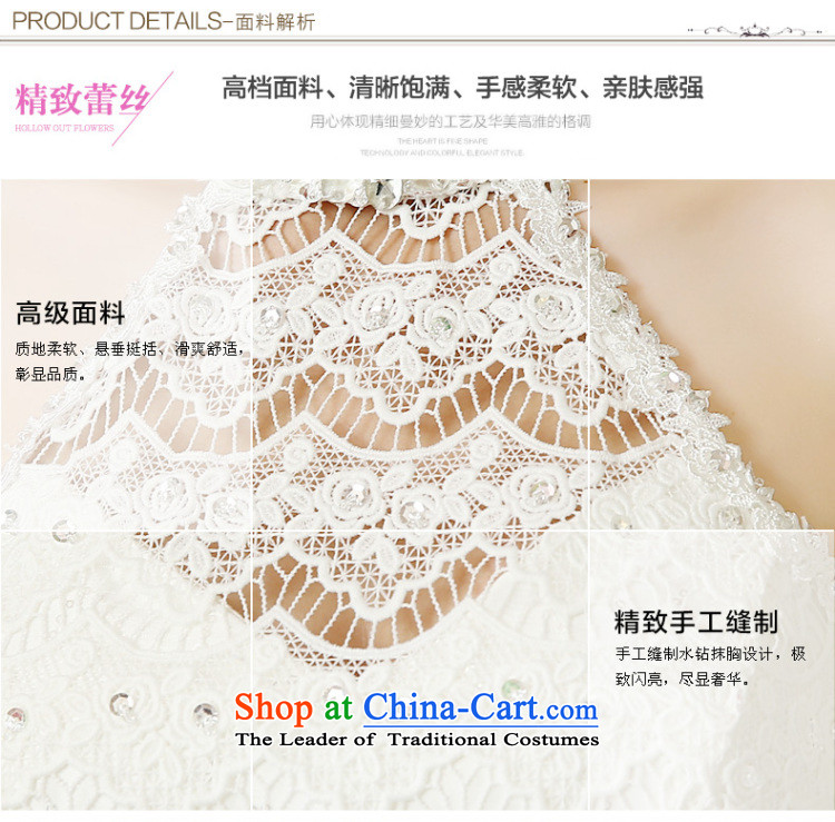 The bride wedding dresses hang also new stylish Sweet Korean 2015 alignment with large numbers to bind video thin lace diamond bon bon skirt wedding whiteL picture, prices, brand platters! The elections are supplied in the national character of distribution, so action, buy now enjoy more preferential! As soon as possible.