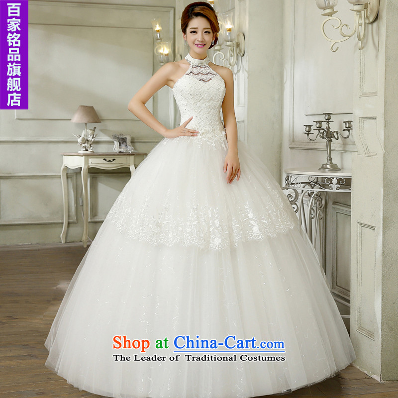 The bride wedding dresses hang also new stylish Sweet Korean 2015 alignment with large numbers to bind video thin lace diamond bon bon skirt wedding white L