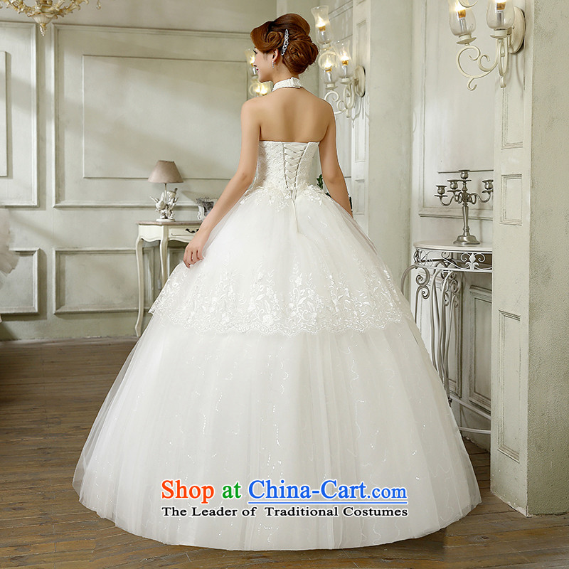 The bride wedding dresses hang also new stylish Sweet Korean 2015 alignment with large numbers to bind video thin lace diamond bon bon skirt wedding white L, hundreds of Ming products , , , shopping on the Internet