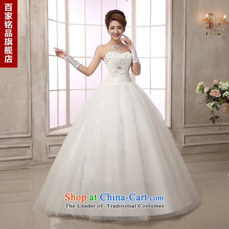 Wedding dress 2015 autumn and winter Princess align new sweet to sexy Beauty Chest straps with diamond wedding dress marriage Bride With White customization size 7 day shipping