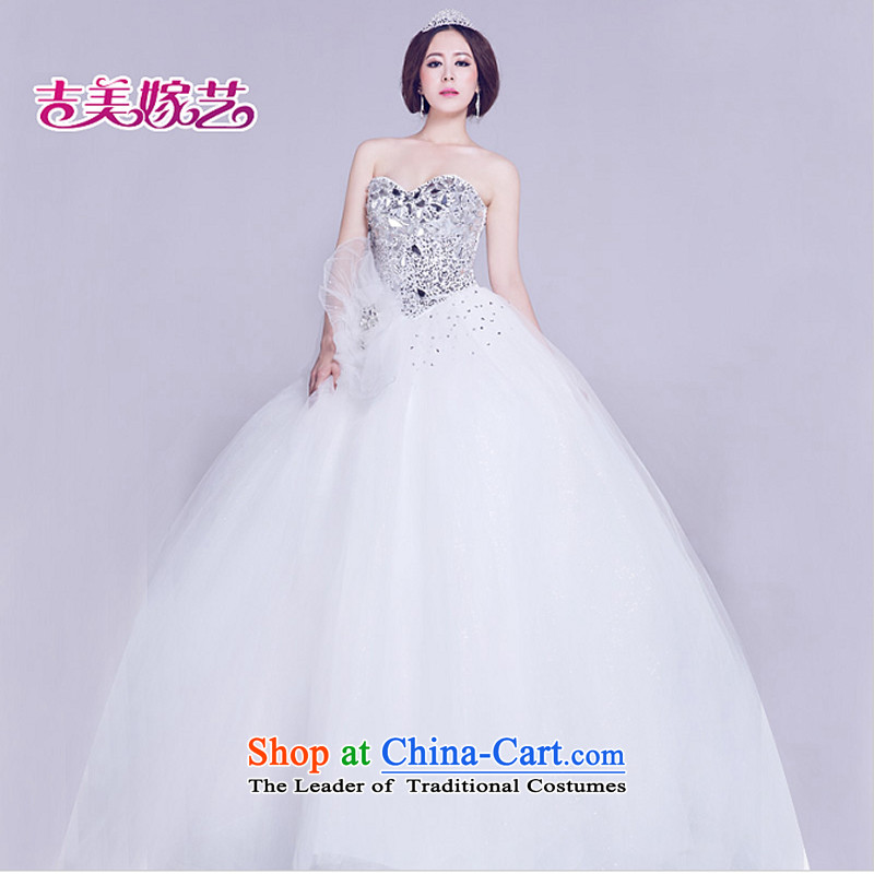 Wedding dress Kyrgyz-american married new anointed arts 2015 Chest Korean skirt HS808B to align the Princess Bride wedding white�S