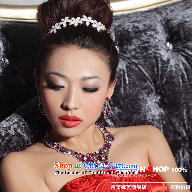 The bride wedding dresses accessories kit Korean TL3152 link water drilling jewelry 2015 new marriage necklace purple ear