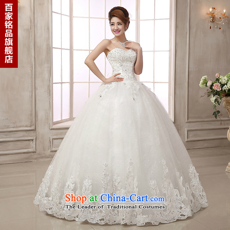Wedding dresses 2015 new luxury water drilling upscale car bone lace style with chest to Princess wedding dress bon bon white Custom Size 7 day shipping