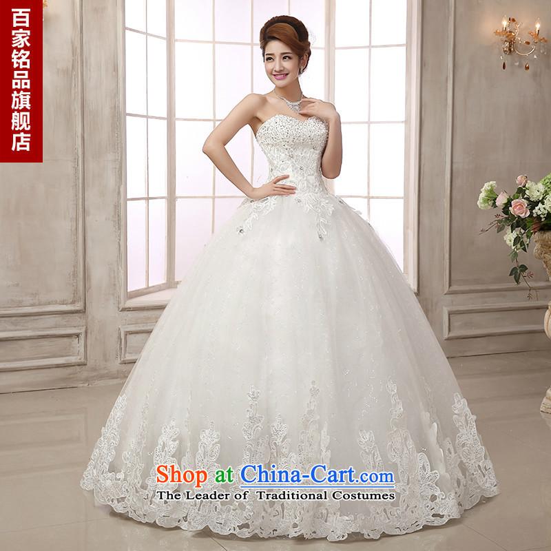 Wedding dresses 2015 new luxury water drilling upscale car bone lace style with chest to Princess wedding dress bon bon white Custom Size 7 day shipping