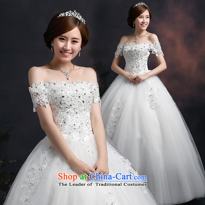 Lily Dance 2015 autumn and winter new wedding dresses marriages wedding shoulders retro lace wedding a field to align the shoulder straps graphics thin white wedding dresses tailored