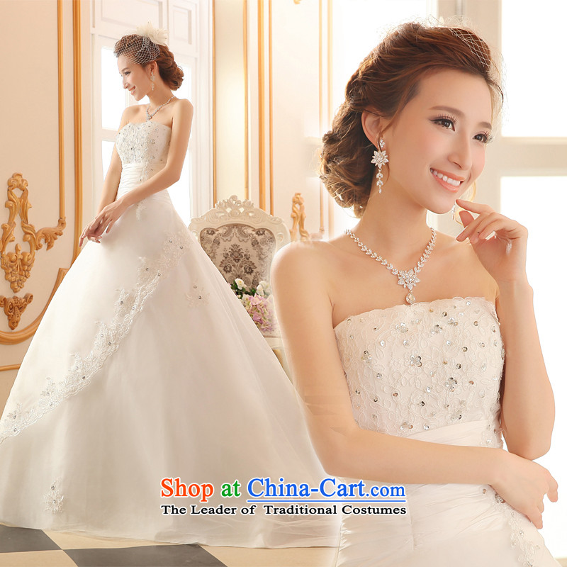 Lily Dance wedding dresses Summer 2015 new wedding band wedding alignment with chest wedding Korean version of large trailing white marriages wedding dresses white聽L