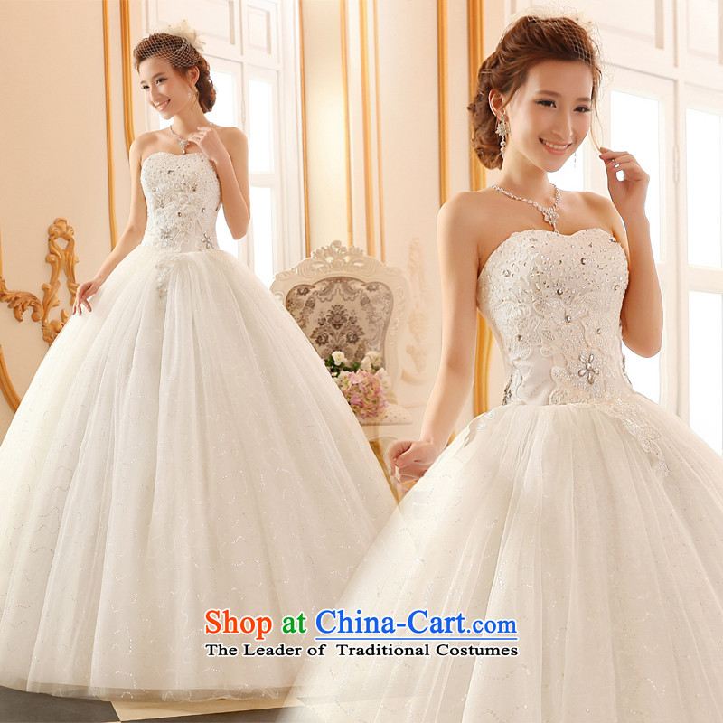 Lily Dance wedding dresses new 2015 Winter Korean fashion and chest wedding lace straps bride wedding code wedding to align the wedding dresses white tailored