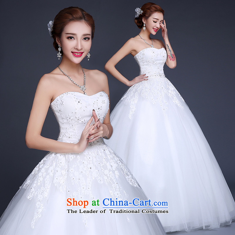 Lily Dance wedding dresses new 2015 Summer Wedding Korean wedding to align the wedding and chest bride wedding code wedding pregnant women wedding dresses white聽L