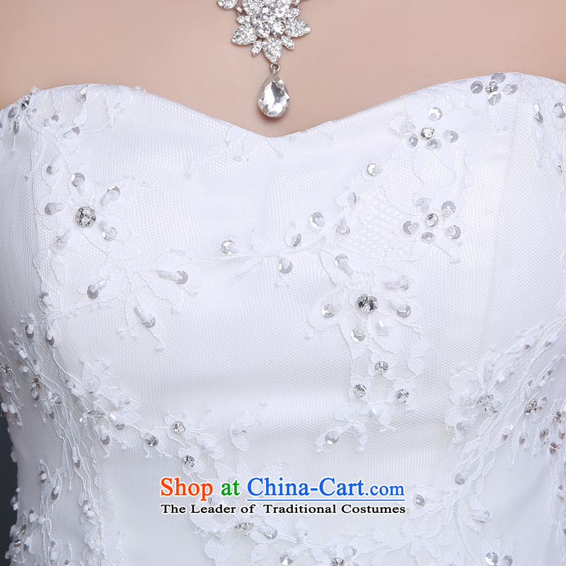 Lily Dance wedding dresses new 2015 Summer Wedding Korean wedding to align the wedding and chest bride wedding code wedding pregnant women wedding dresses white L, Lily Dance (ball lily) , , , shopping on the Internet
