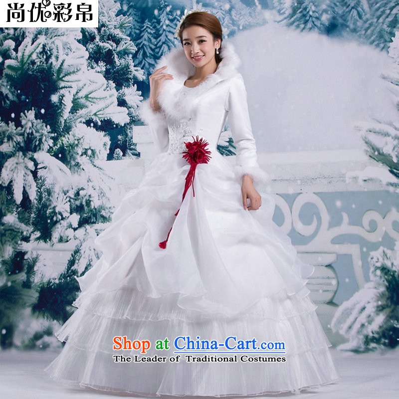 There is also optimized 8D winter winter 2014 Korean version of the new long-sleeved gross for thick winter winter) cotton wedding YSB2064 white?L