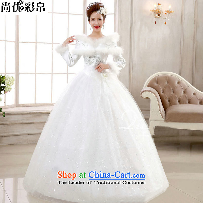 There is also optimized 8D bride wedding dresses 2014 winter, the new Korean thick cotton long-sleeved to align code winter wedding word YSB2065 A?M shoulder