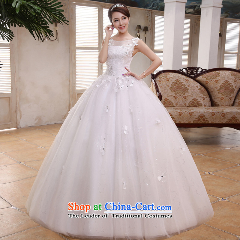 The privilege of serving-leung 2015 new Korean brides wedding dress a field to align the shoulder white video thin white dresses wedding dress�2XL
