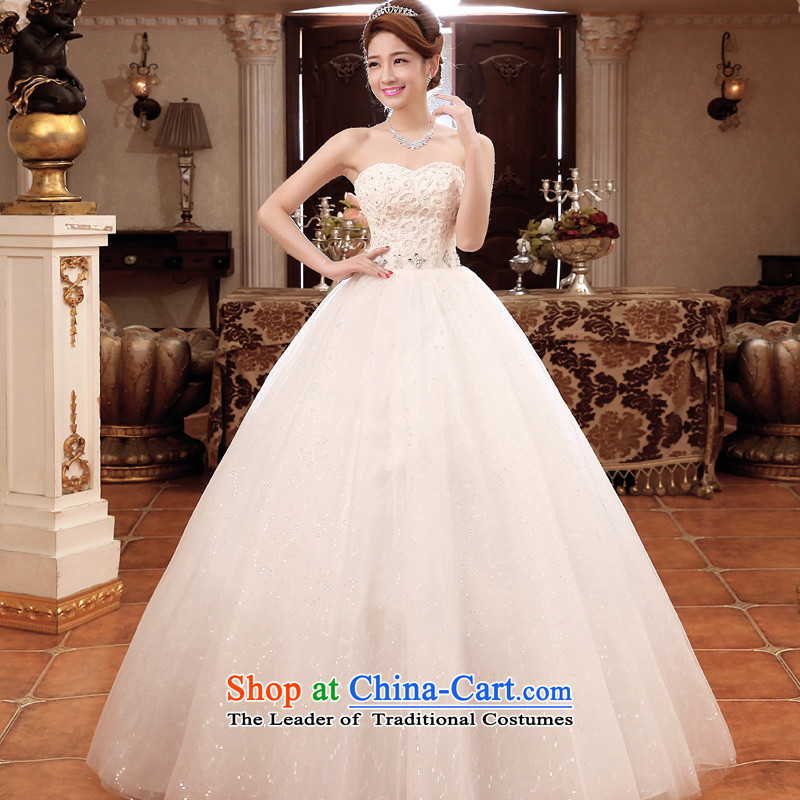 The privilege of serving-leung 2015 new bride wedding dress wiping the chest white graphics to align the large thin wedding dresses white L, of skirt services-leung , , , shopping on the Internet