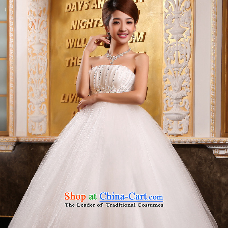 The privilege of serving-leung聽2015 new bride wedding dress white Korean Top Loin of pregnant women to align the wedding dress dress White聽4XL