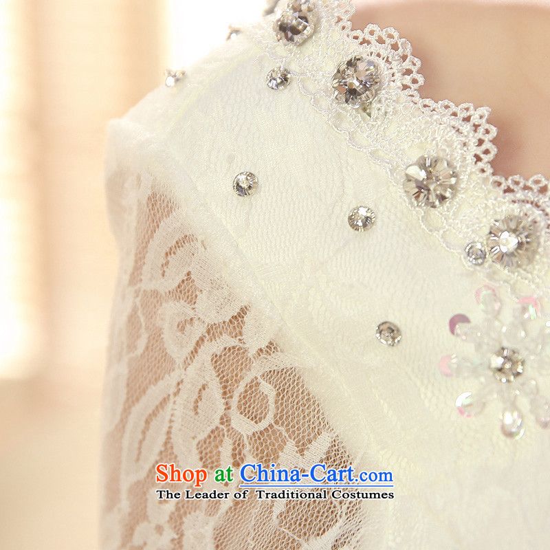 2015 new service-leung won the honor of Princess Bride long-sleeved horn version wedding dress to align the sweet wedding dress White XL, a service-leung , , , shopping on the Internet