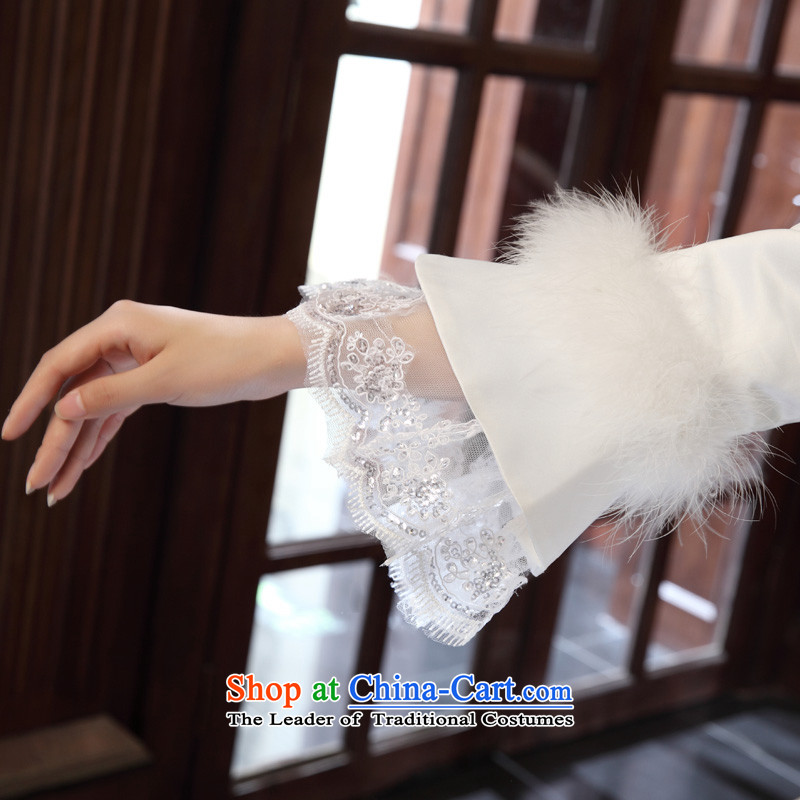 The privilege of serving-leung 2015 new Korean winter Princess Bride l align to Sau San wedding wedding dress whiteXXL, honor services-leung , , , shopping on the Internet