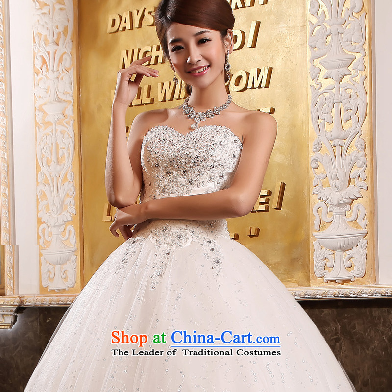 The privilege of serving-leung Korean straps and chest wedding dress to align bon bon diamond wedding dress Sau San New 2015 White -leung to honor, , , , shopping on the Internet
