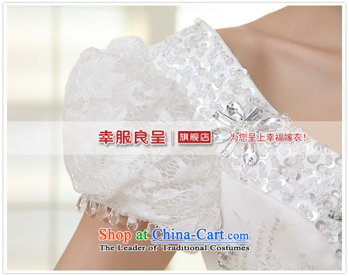 The privilege of serving-leung 2015 new Korean brides wedding dress shoulder shoulders the word bubble to align the Cuff bon bon skirt wedding whitepicture, prices, S brand platters! The elections are supplied in the national character of distribution, so action, buy now enjoy more preferential! As soon as possible.