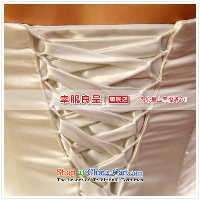 2015 new privilege service-leung Korean fashion Princess Mary Magdalene chest to align the bride wedding dress wedding dress ceremony sweet White聽XXL picture, prices, brand platters! The elections are supplied in the national character of distribution, so action, buy now enjoy more preferential! As soon as possible.
