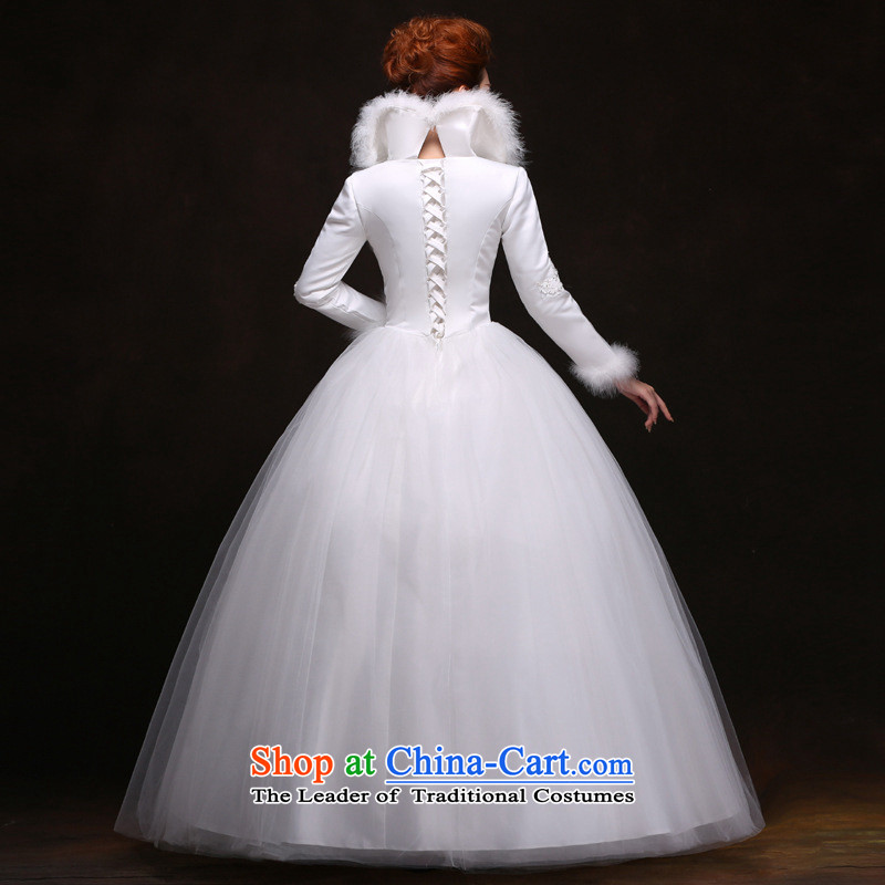 There is also optimized 8D to align the winter wedding dresses long-sleeved winter) Cotton White YFTK2085 folder is optimized color 9XL, , , , shopping on the Internet