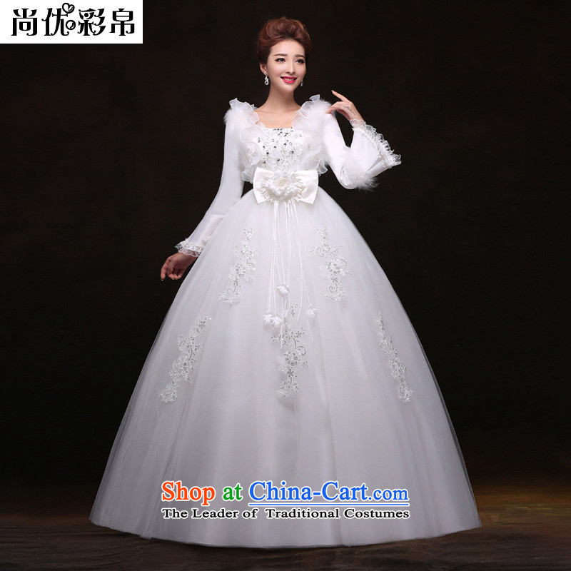 There is also a grand pregnant women higher optimization waist wedding plus cotton with warm winter clothing wedding?YUTK2086?White?M