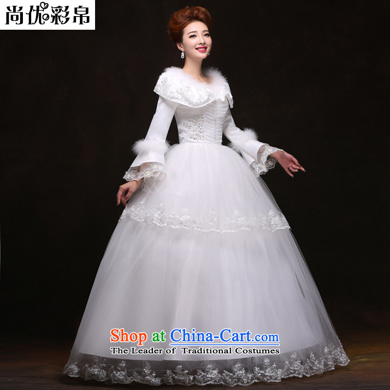 There is also a grand plus units to optimize warm winter clothing to align the bride wedding dresses YFTK2087 white S