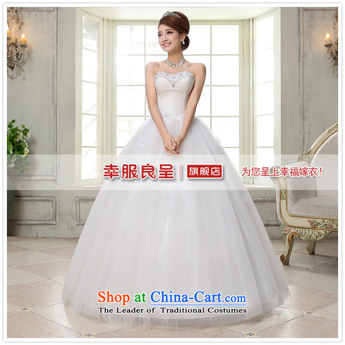 The privilege of serving-leung 2015 new Korean brides wedding dress and align to Princess chest stylish wedding dress dress whiteL picture, prices, brand platters! The elections are supplied in the national character of distribution, so action, buy now enjoy more preferential! As soon as possible.
