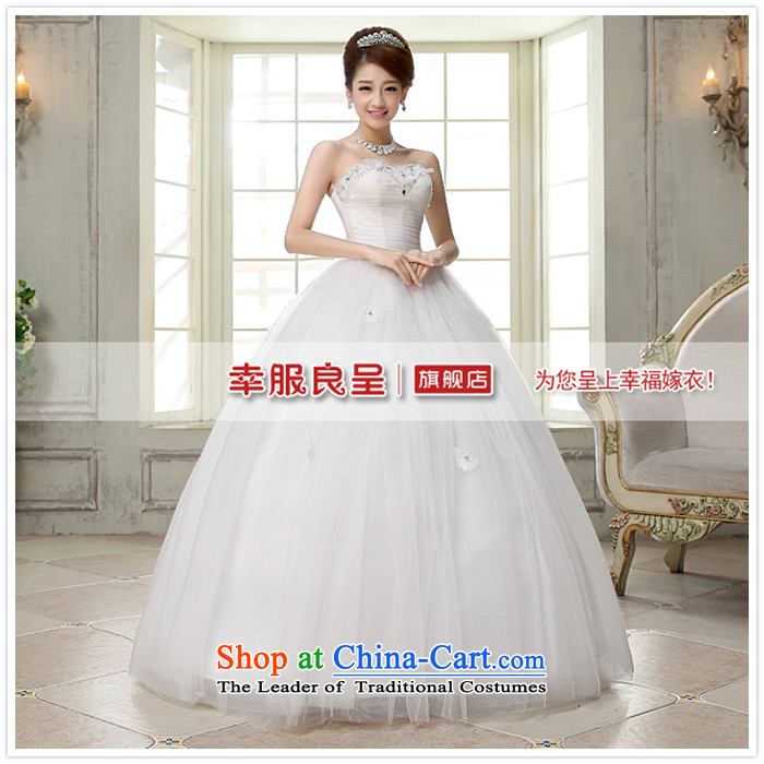 The privilege of serving-leung 2015 new Korean brides wedding dress and align to Princess chest stylish wedding dress dress white L picture, prices, brand platters! The elections are supplied in the national character of distribution, so action, buy now enjoy more preferential! As soon as possible.