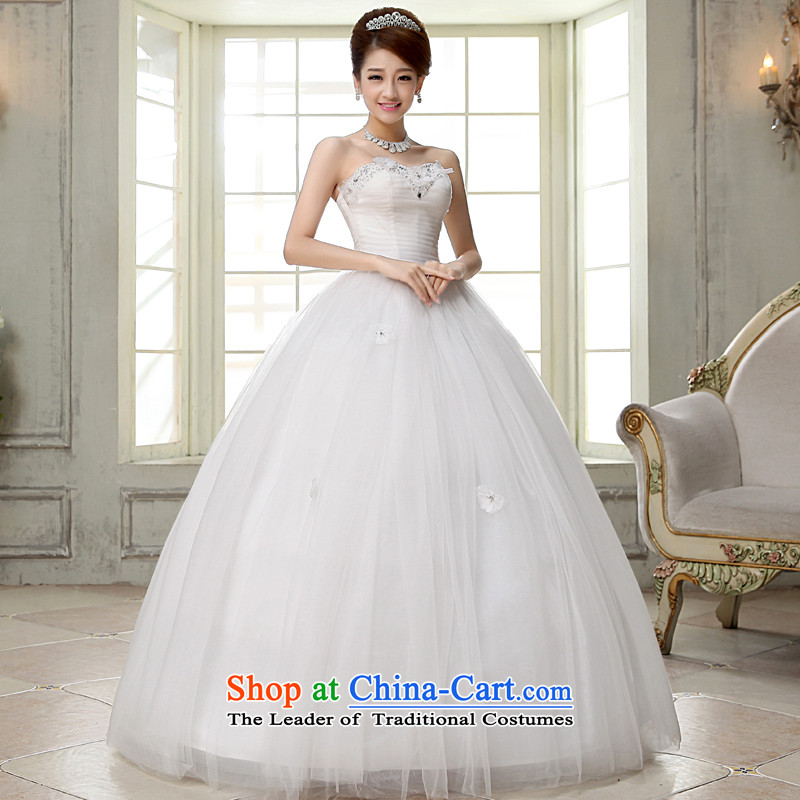 The privilege of serving-leung 2015 new Korean brides wedding dress and align to Princess chest stylish wedding dresses white L, of skirt services-leung , , , shopping on the Internet