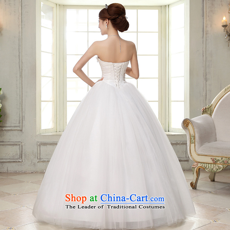 The privilege of serving-leung 2015 new Korean brides wedding dress and align to Princess chest stylish wedding dresses whiteL, of skirt services-leung , , , shopping on the Internet