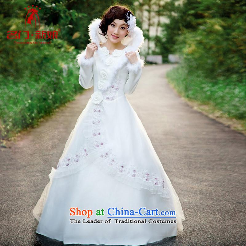 A Bride wedding dresses cotton winter wedding Korean Princess wedding to align the Korean style wedding 821 M