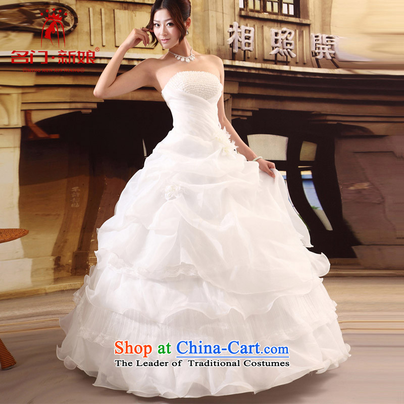 A bride wedding dresses new Korean style wedding Princess Mary Magdalene chest with sweet wedding band 531 L
