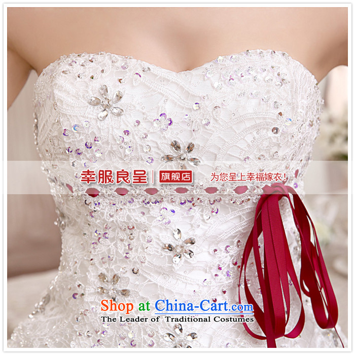 The privilege of serving-leung 2015 new Korean brides wedding dress and chest straps to align the sweet princess wedding dress White聽XXL picture, prices, brand platters! The elections are supplied in the national character of distribution, so action, buy now enjoy more preferential! As soon as possible.