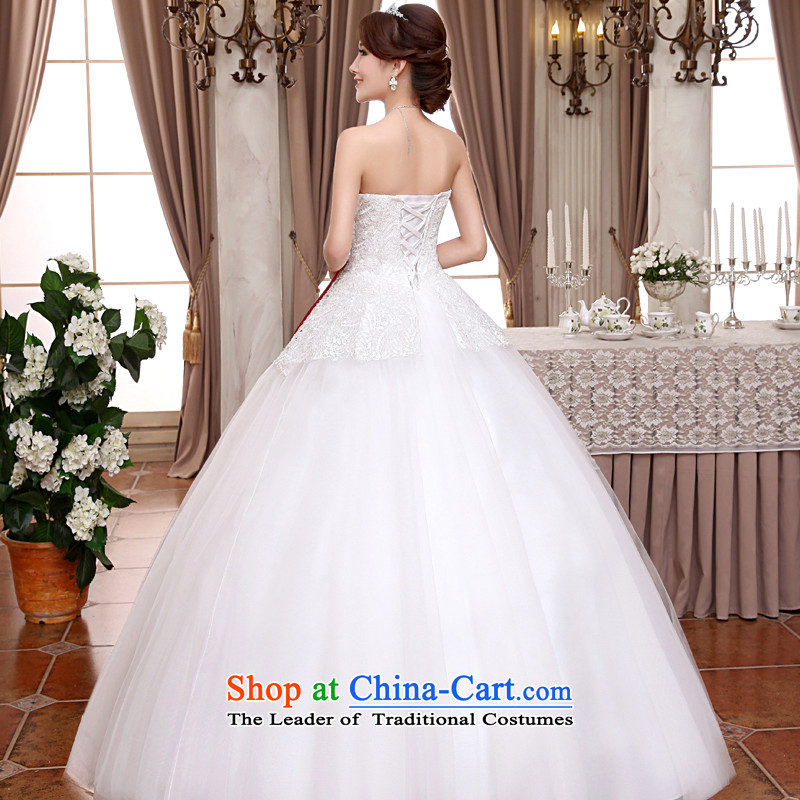 The privilege of serving-leung 2015 new Korean brides wedding dress and chest straps to align the sweet princess wedding dress white聽XXL, honor services-leung , , , shopping on the Internet