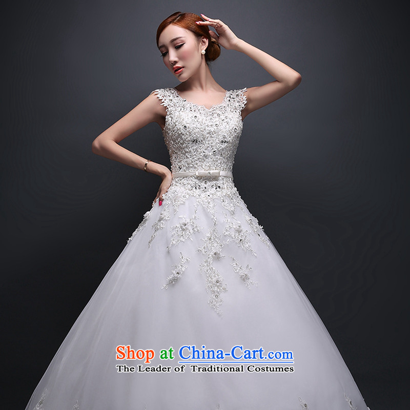 Hei Kaki wedding dresses new 2015 autumn and winter stylish bride wedding lace shoulder straps to align the wedding ivory聽XL