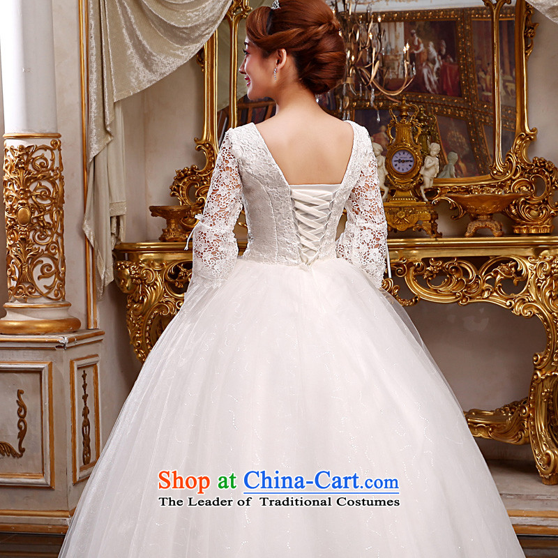 The privilege of serving-leung 2015 new bride trendy first field shoulder wedding dress lace align to the princess straps wedding dress WhiteXL, a service-leung , , , shopping on the Internet
