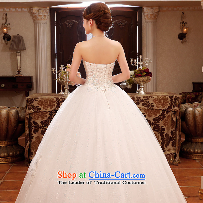 The privilege of serving-leung 2015 new Korean Bridal Fashion Princess Mary Magdalene chest to sweet wedding dress wedding dress white XXL, honor services-leung , , , shopping on the Internet