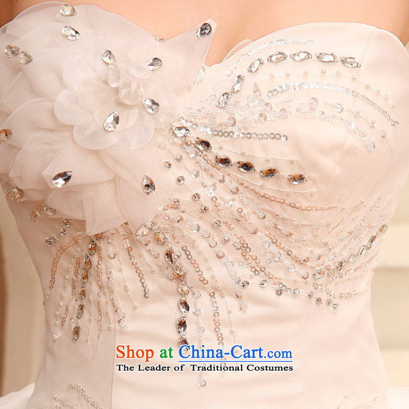 The privilege of serving-leung 2015 new Korean Bridal Fashion Princess Mary Magdalene chest to sweet wedding dress wedding dress whiteXXL, honor services-leung , , , shopping on the Internet