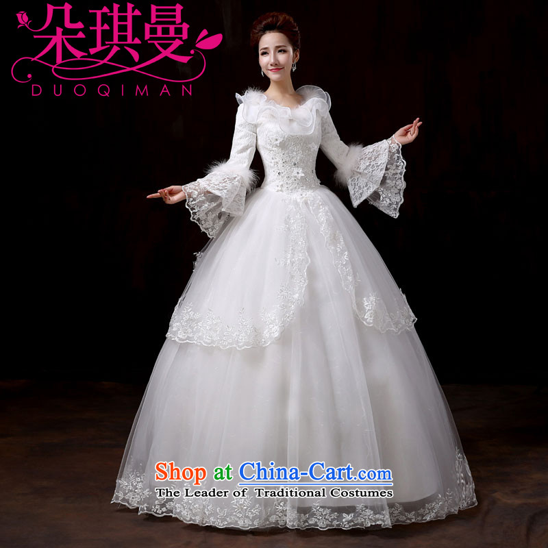 Flower Angel Full Cayman wedding dresses new 2014 winter Princess cuff sweet wedding long-sleeved thick Korean version for autumn and winter, of gross cotton replacingM