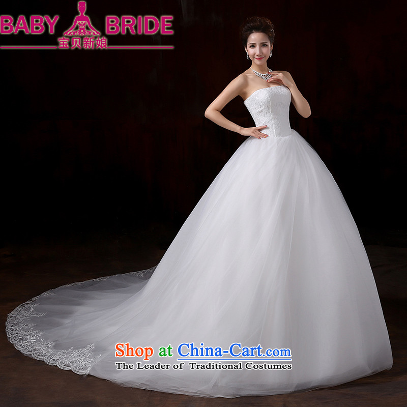 2014 new bride treasure irrepressible stylish and elegant lace wiping the chest to bind with bride noble large tail wedding tail�XXL