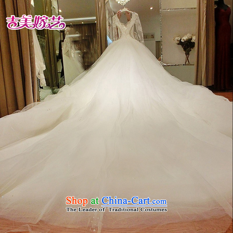 Pre-sale - wedding dresses Kyrgyz-american married new Korean arts 2015 version of winter long-sleeved stylish lace 7,687 widows' tails bride wedding 1.5 m tail , Kyrgyz-US married arts , , , shopping on the Internet