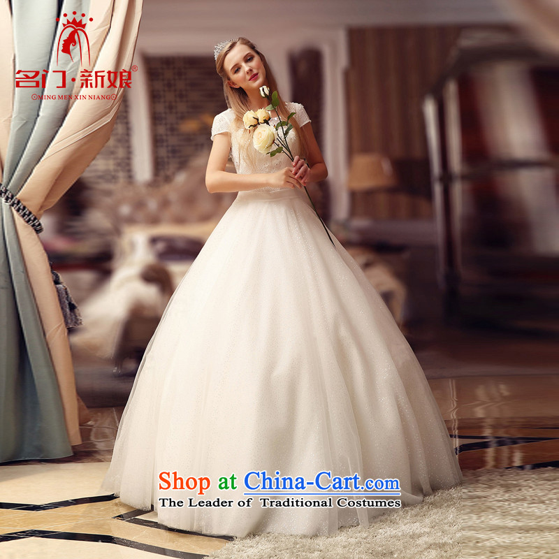 A Bride wedding dresses new 2015 winter wedding bride wedding word shoulder temperament 820 S