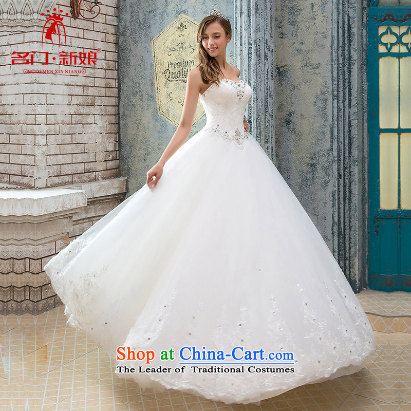 A Bride wedding dresses new 2015 winter clothing winter and toasting champagne bride chest wedding 929 S