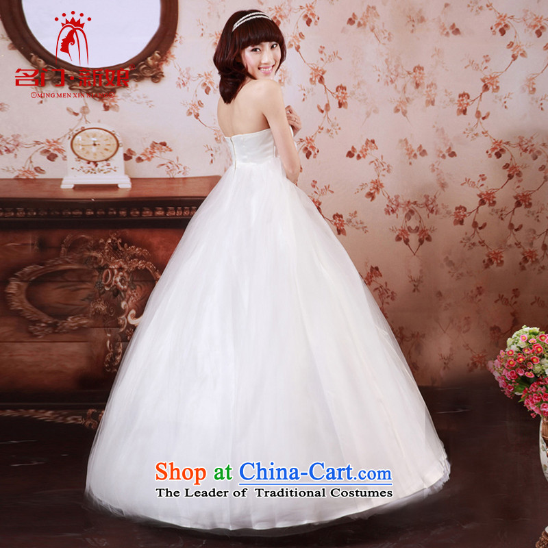 A pregnant woman wedding dresses聽2015 new Korean sweet anointed chest Princess Top Loin video thin wedding 733 L