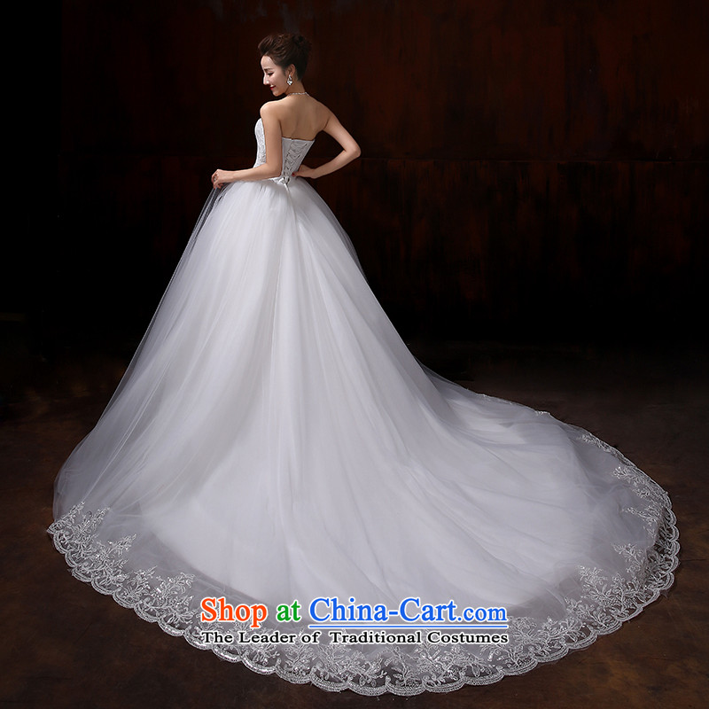 Doi m qi wedding dresses 2015 new irrepressible stylish and elegant lace wiping the chest to bind with bride noble fresh large-tail wedding wedding dress tail XXL, Demi Moor Qi , , , shopping on the Internet