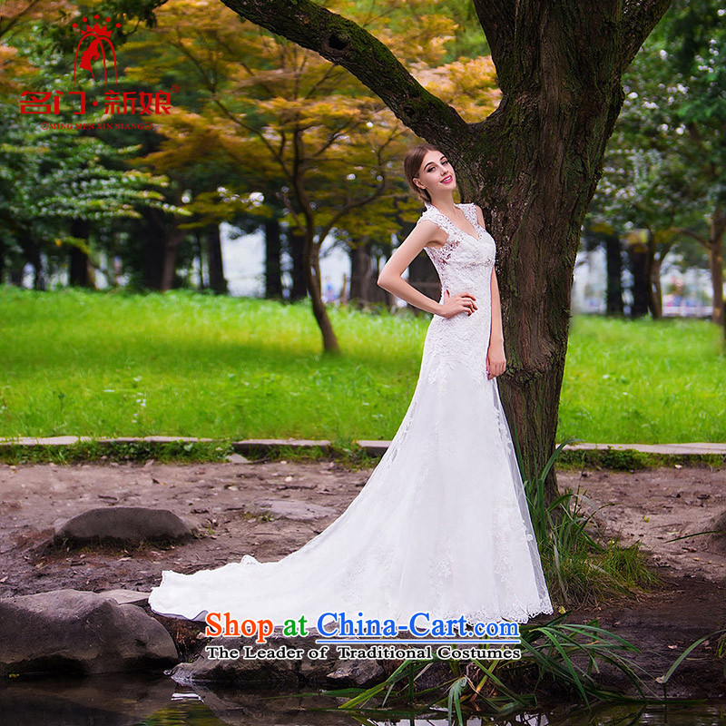 A Bride wedding dresses new 2015 new stylish wedding crowsfoot wedding bride wedding 863 L